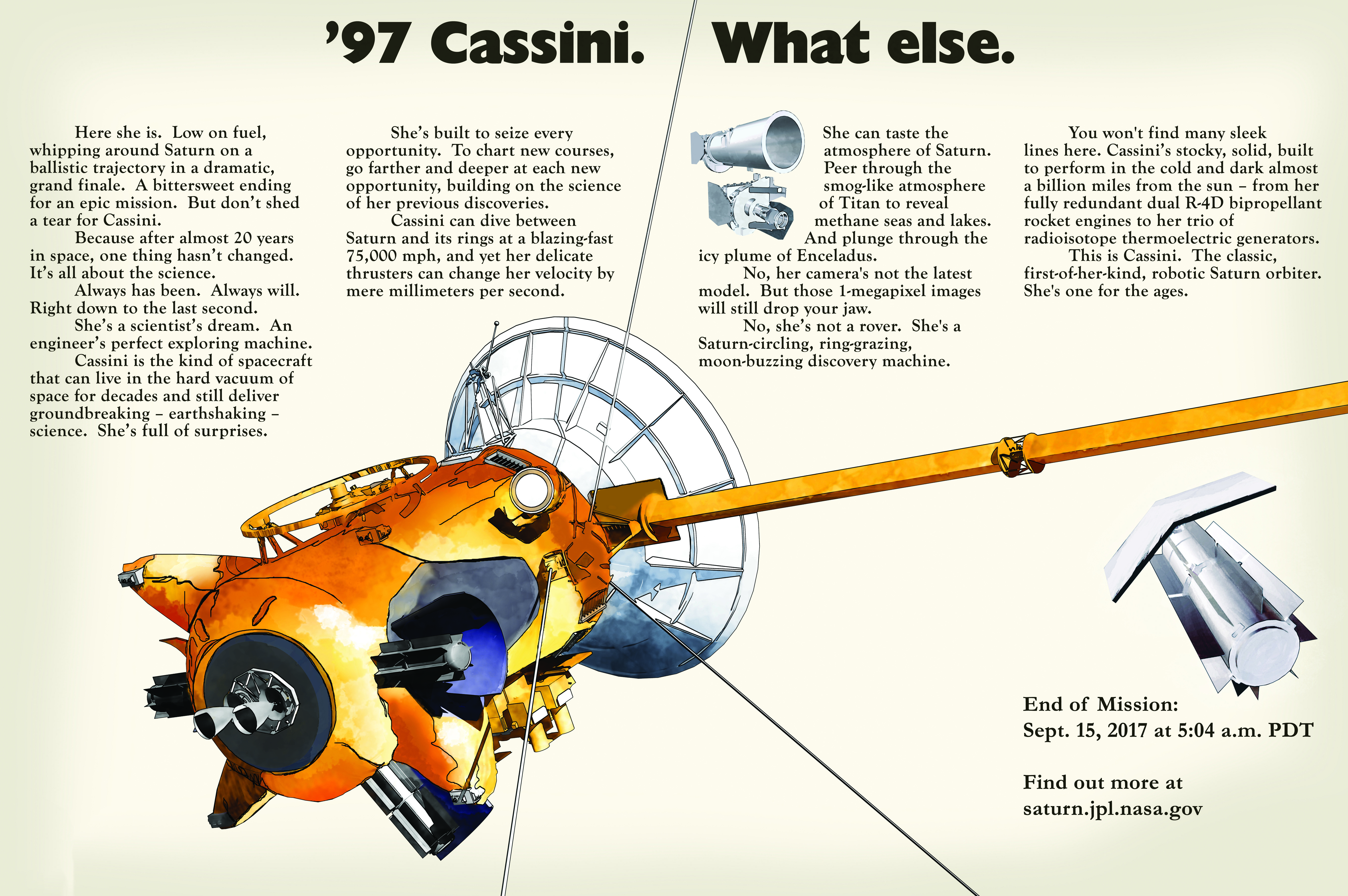 Cassini goes retro